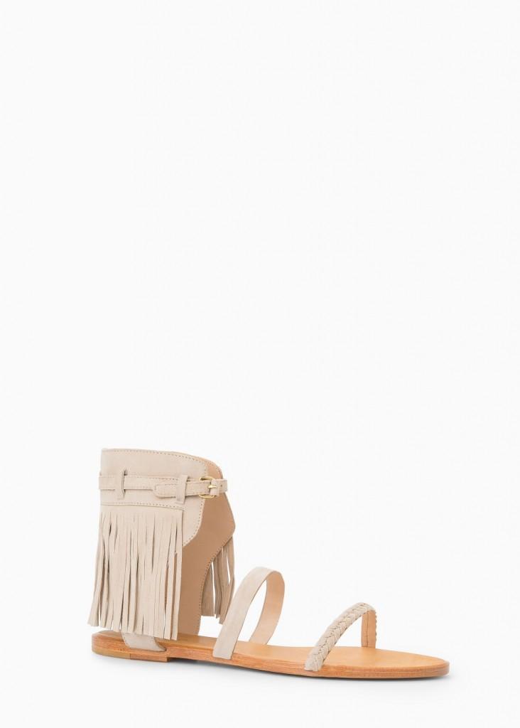 Sandale din piele, Mango, 169 lei