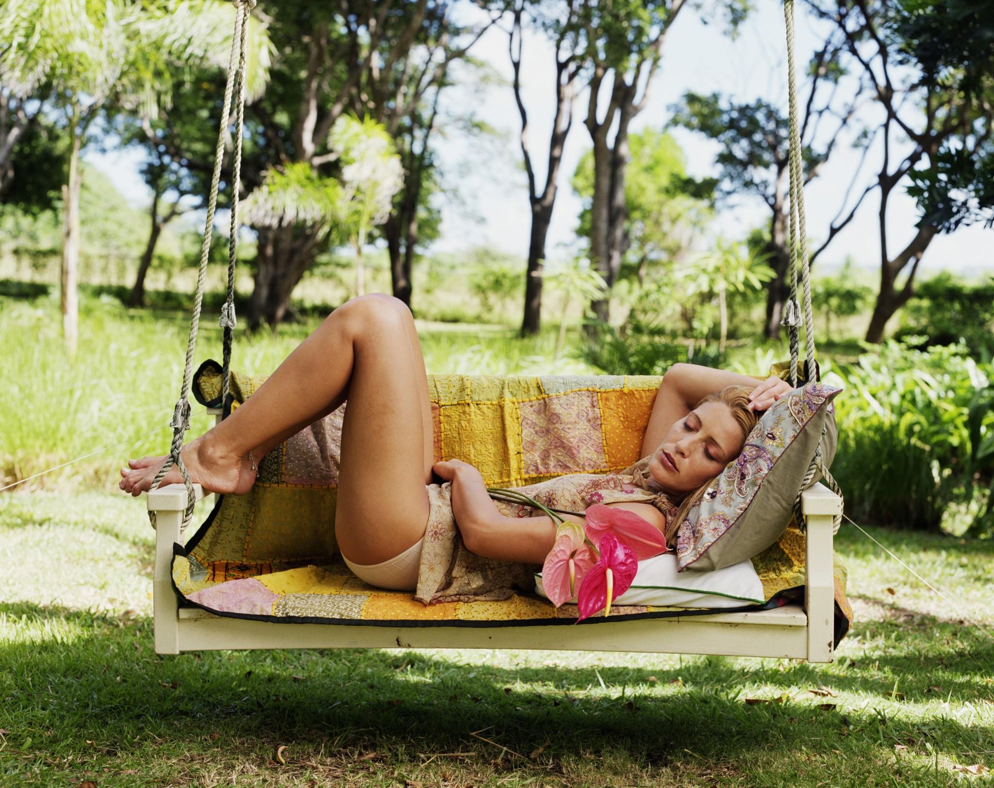 femeie odihna canicula