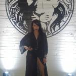 Hilda pentru Cosmopolitan Romania, la showul Versace din cadrul LFW SS2016