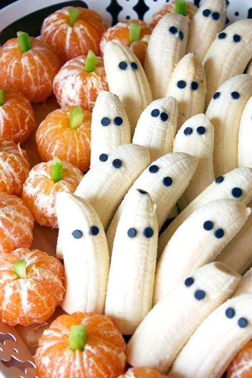 retete dulciuri halloween banane fantome si mandarine dovleci