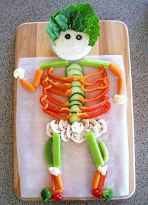 retete halloween schelet din legume