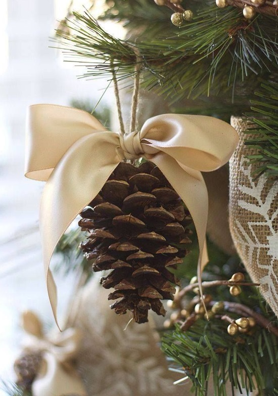 ornamente de brad homemade con de brad cu fundita