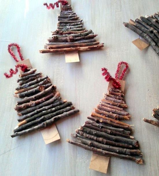 ornamente de brad homemade crengute