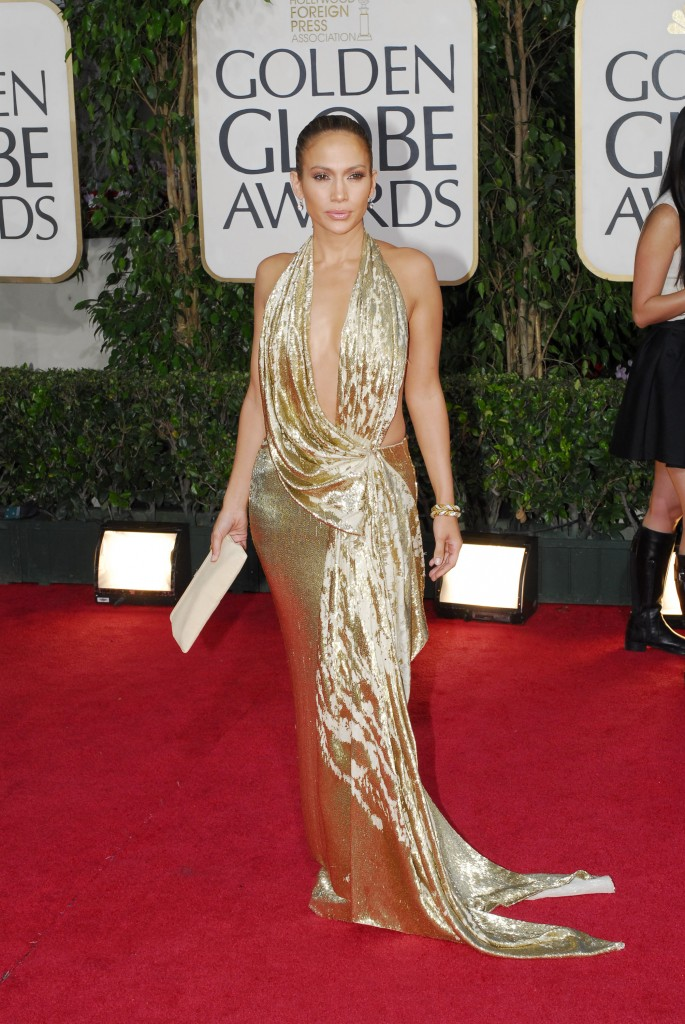 66th ANNUAL GOLDEN GLOBE AWARDS -- Pictured: Jennifer Lopez arrives at the 66th Annual Golden Globe Awards held at the Beverly Hilton Hotel on January 11, 2009 (Photo by Dave Bjerke/NBC/NBCU Photo Bank via Getty Images)