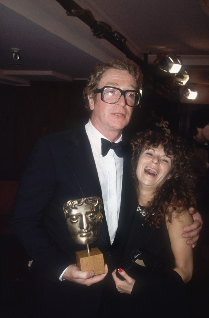 Michael Caine and Julie Walters at the 1984 BAFTA Awards, where they were voted Best Actor and Best Actress respectively for the comdy drama 'Educating Rita'. (Photo by Dave Hogan/Hulton Archive/Getty Images)