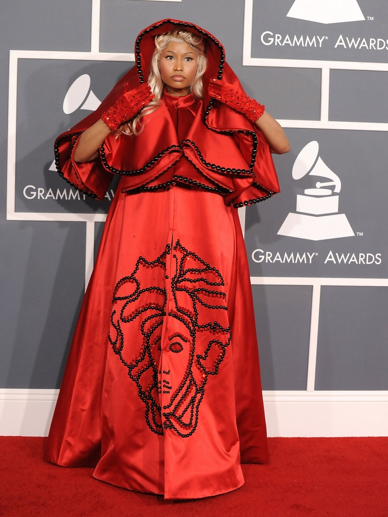 LOS ANGELES, CA - FEBRUARY 12:  Nicki Minaj arrives at The 54th Annual GRAMMY Awards at Staples Center on February 12, 2012 in Los Angeles, California.  (Photo by Steve Granitz/WireImage)