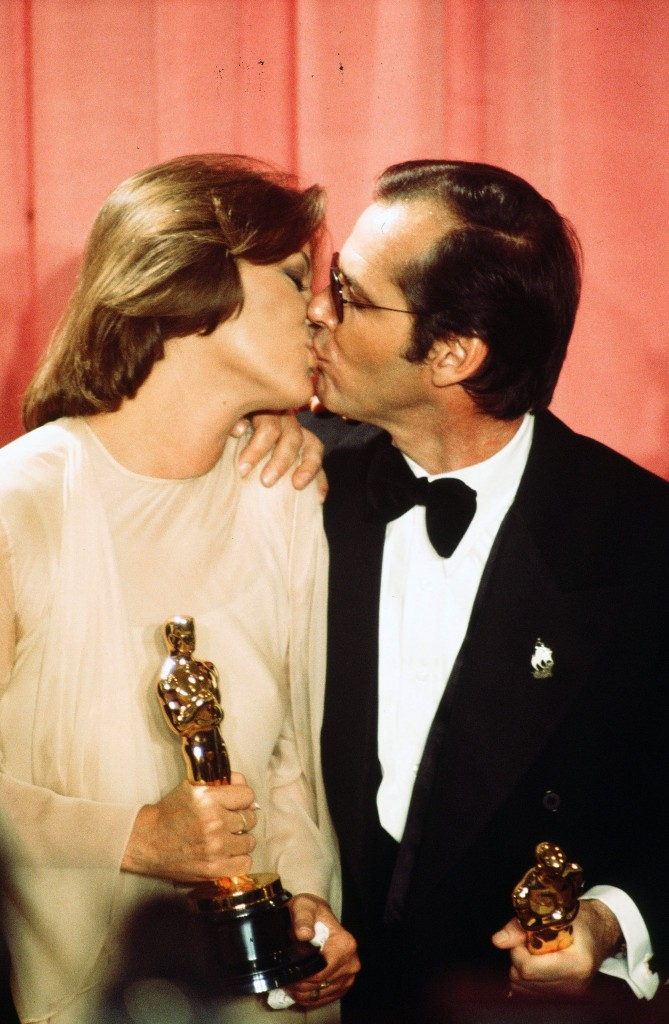 12. Louise Fletcher Jack Nicholson 1976 backstage