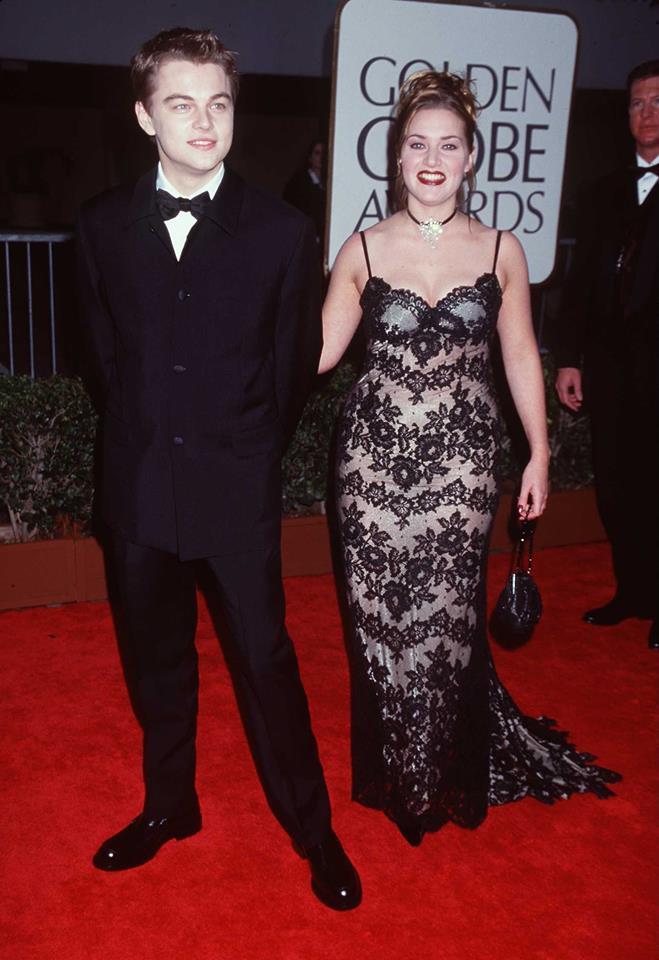Leonardo DiCaprio și Kate Winslet la Premiile Globul de Aur din 1998
