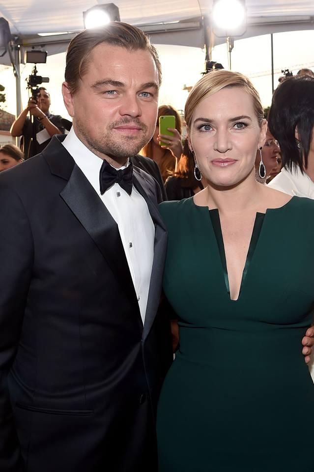Leonardo DiCaprio și Kate Winslet la Premiile Screen Actors Guild 2016