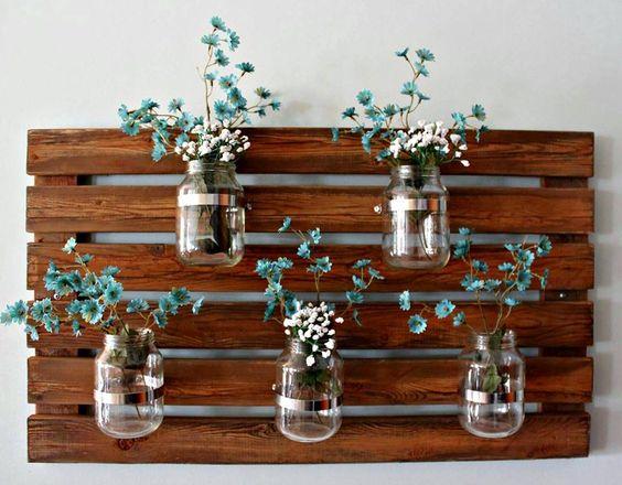 mobila din paleti DIY suport de ghivece sau vaze