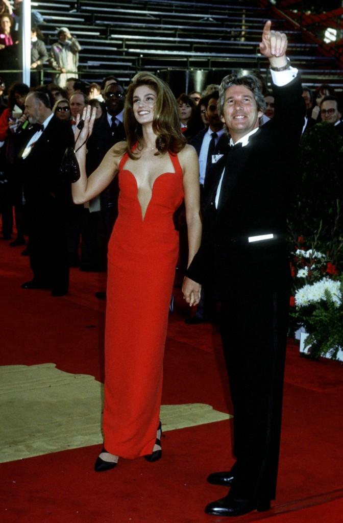 Cindy Crawford și Richard Gere la Premiile Oscar 1991