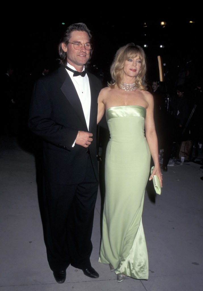 Kurt Russell și Goldie Hawn la Premiile Oscar 1996