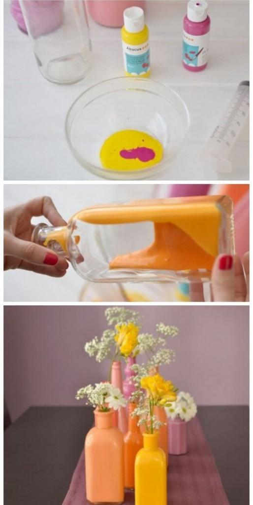 decoratiuni primavara diy vaze colorate