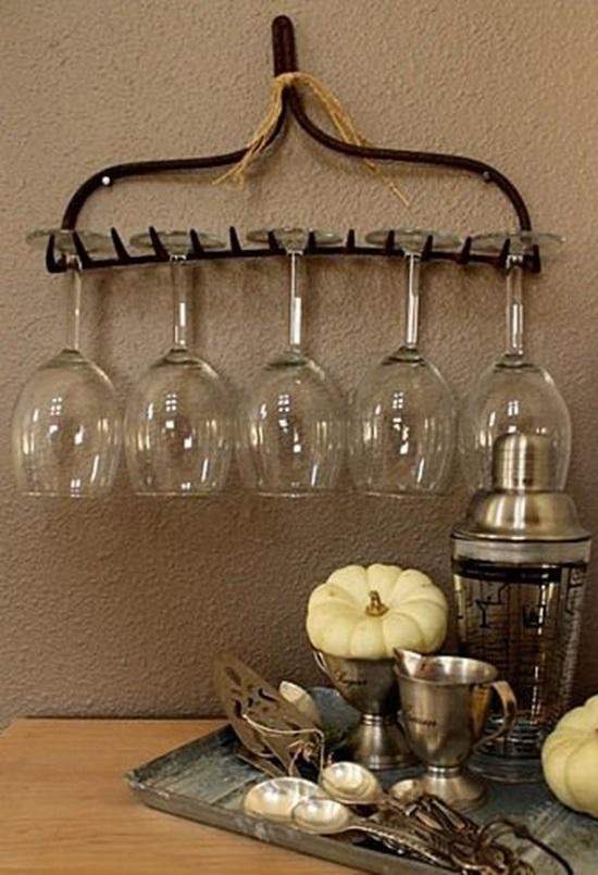 recicleaza creativ idei de decoratiuni diy grebla suport de pahare