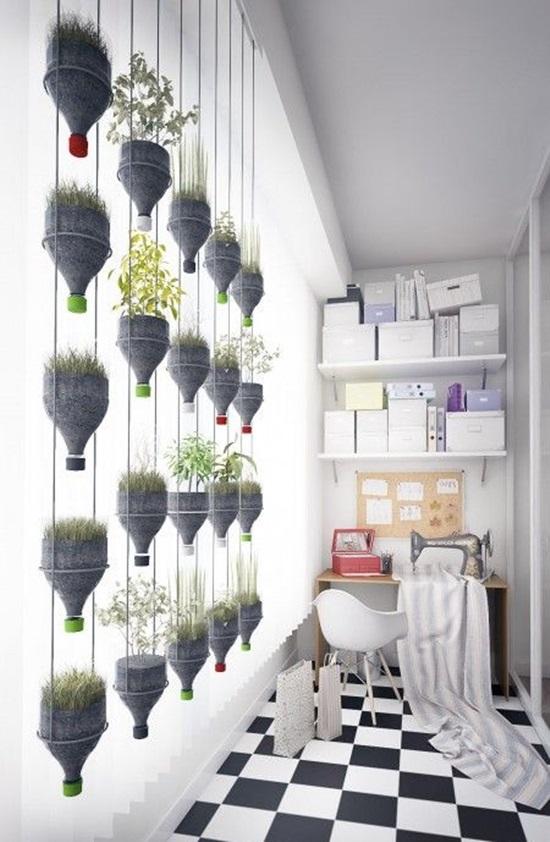 recicleaza creativ idei de decoratiuni diy zid de plante