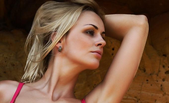 femeie piele radioasa
