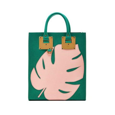 geanta tote cu frunza roz sophie hulme
