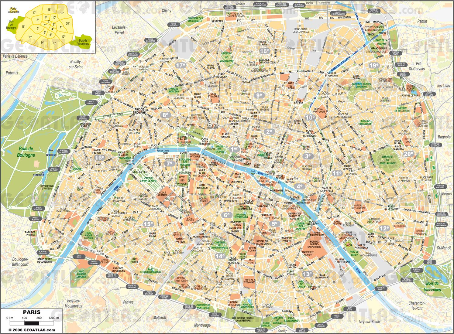 Harta Paris Cosmopolitan Ro