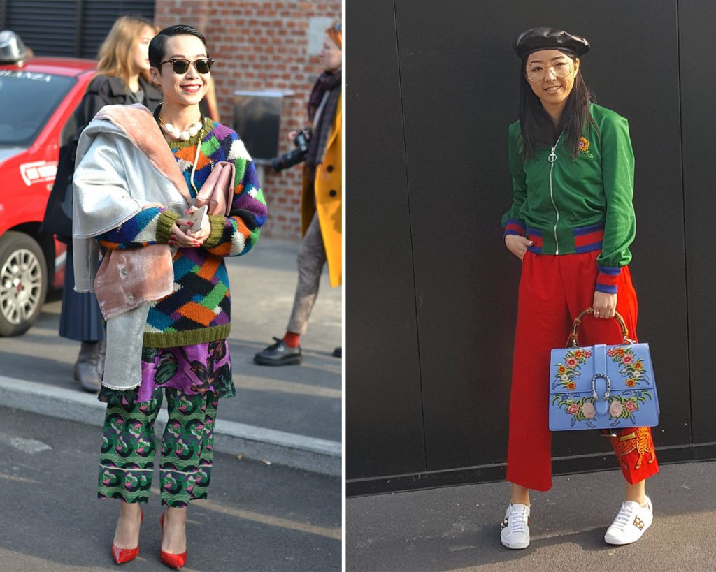gucci street style milan fashion week 2017