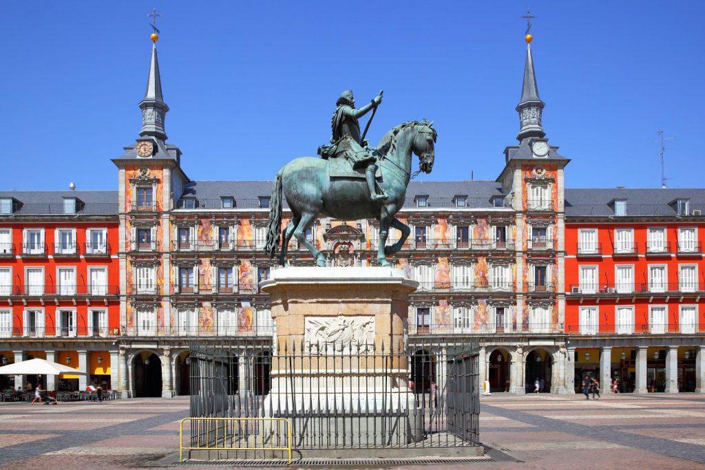 Plaza Mayor si statuia regelui Philip al treilea