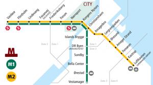 Harta metrou Copenhaga