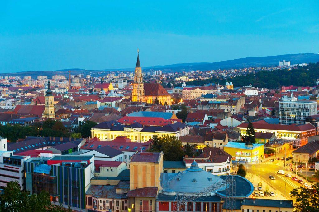 Localizarea orașului Cluj-Napoca