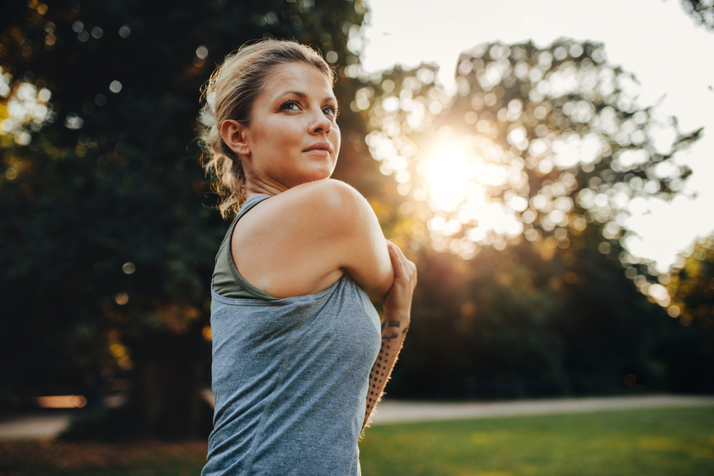 femeie in parc