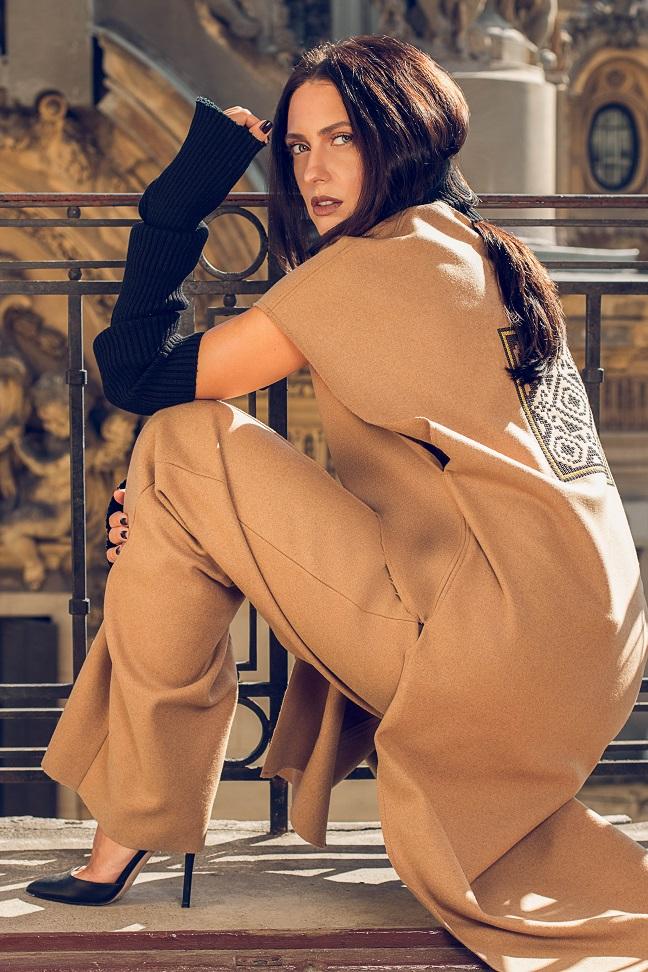 Camel Wool Vest_Maressia