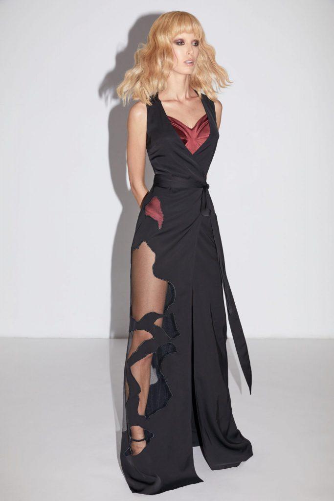Murmur Store_Satin Sculpt Bodysuit_TraceLong Dress