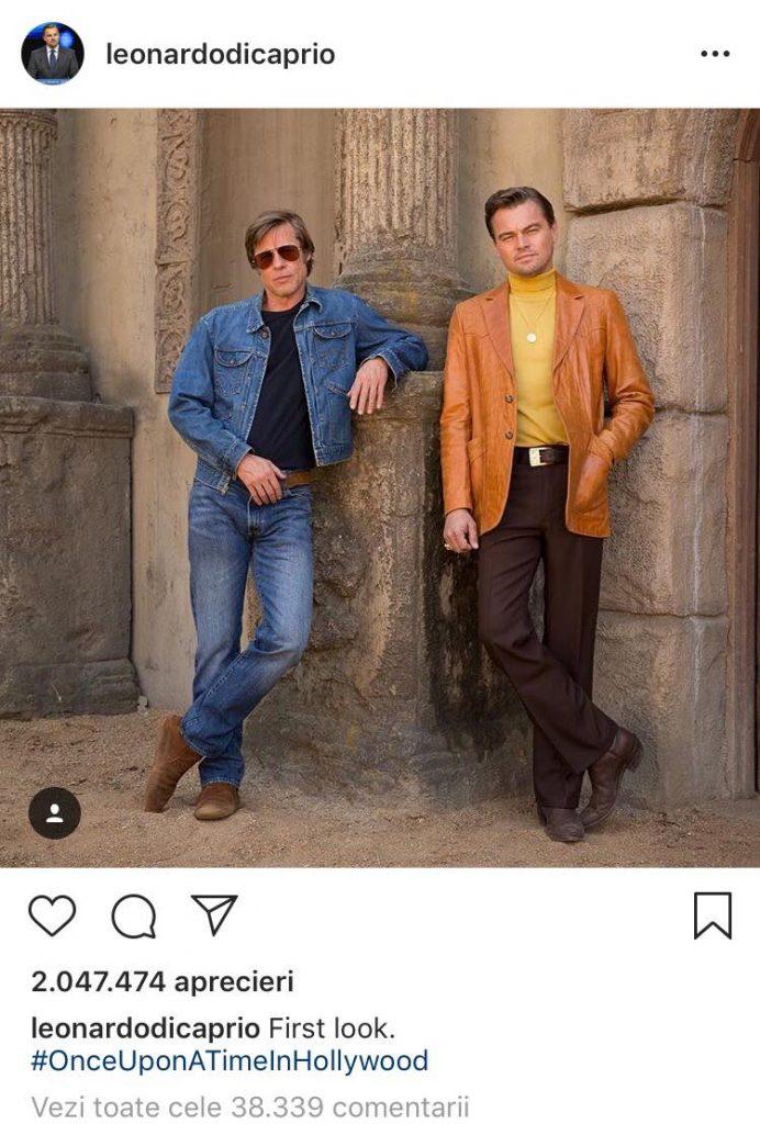 Brad Pitt si Leonardo DiCaprio