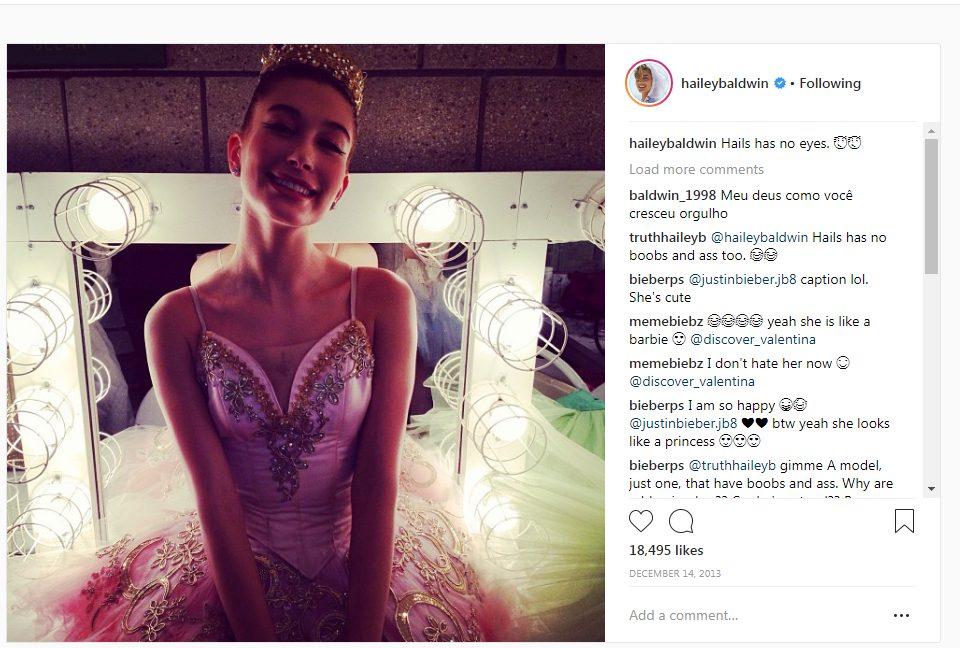 hailey Baldwin balerina