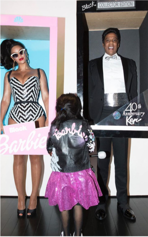 beyonce jay z blue ivy carter ken barbie halloween