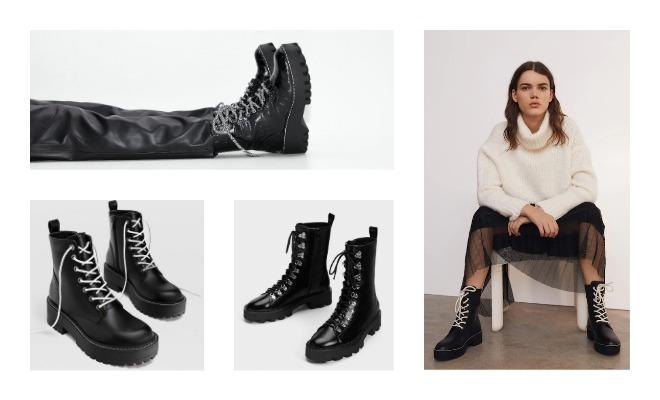 gânduri pe magazin stil de moda cumpărare ieftin fotografii oficiale imagini detaliate ghete si botine lac  zara - latino-vibes.ro