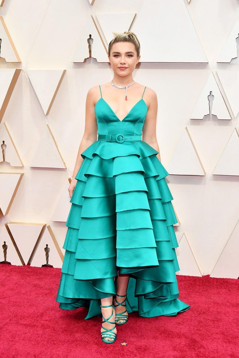 Florence Pugh in Louis Vuitton Oscar 2020