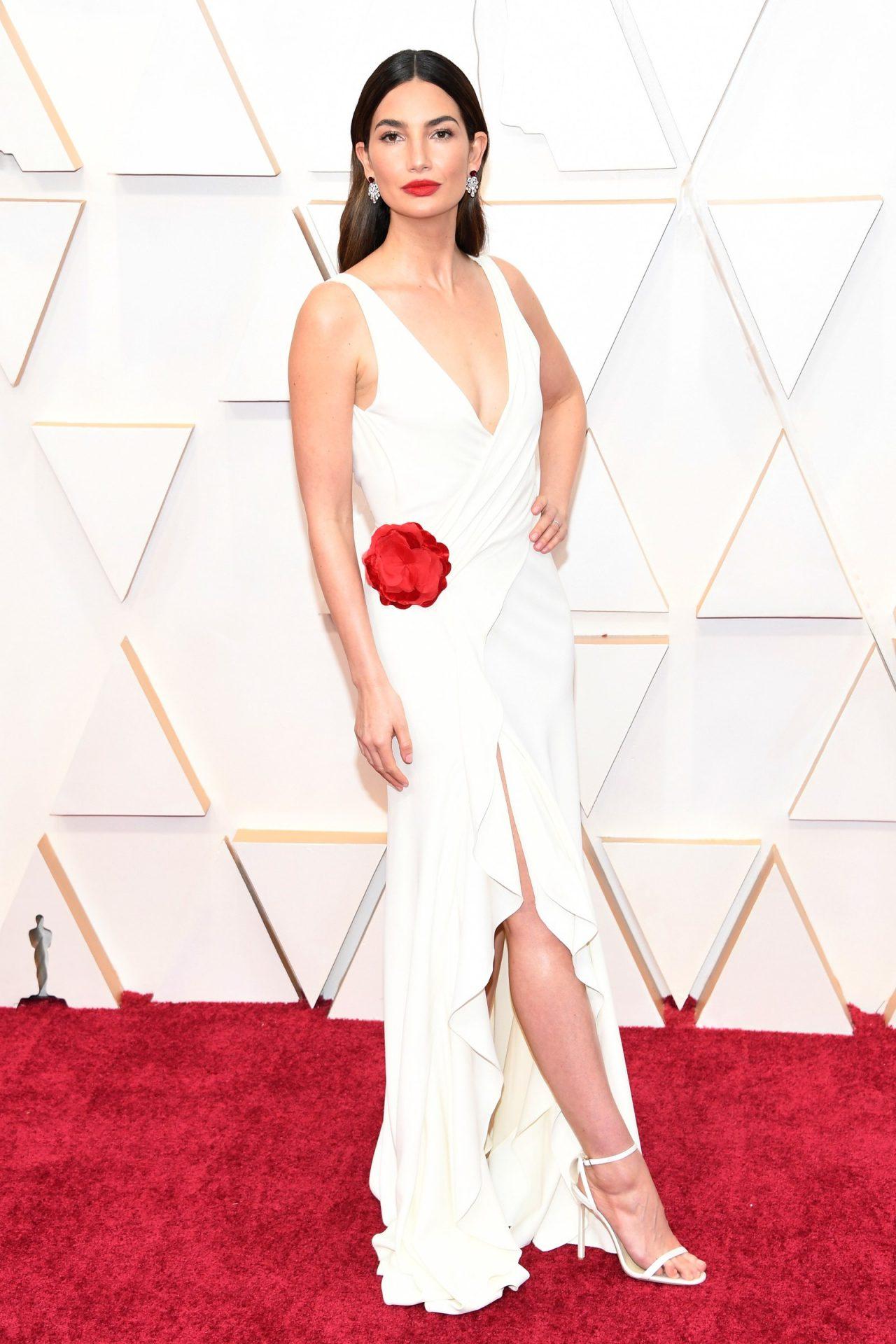 Lily Aldridge in Ralph Lauren Oscar 2020