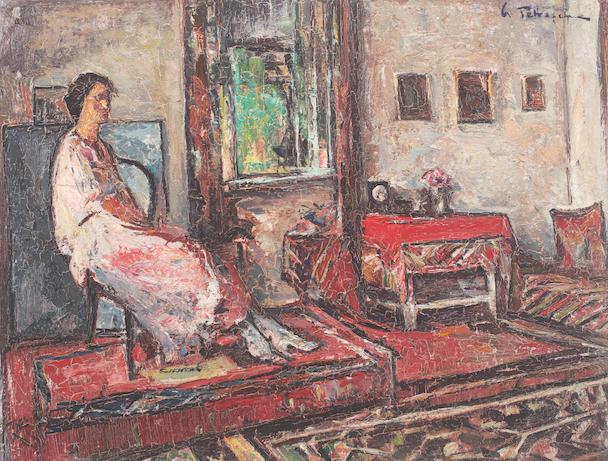 Gh. Petrascu, Lucretia in interior