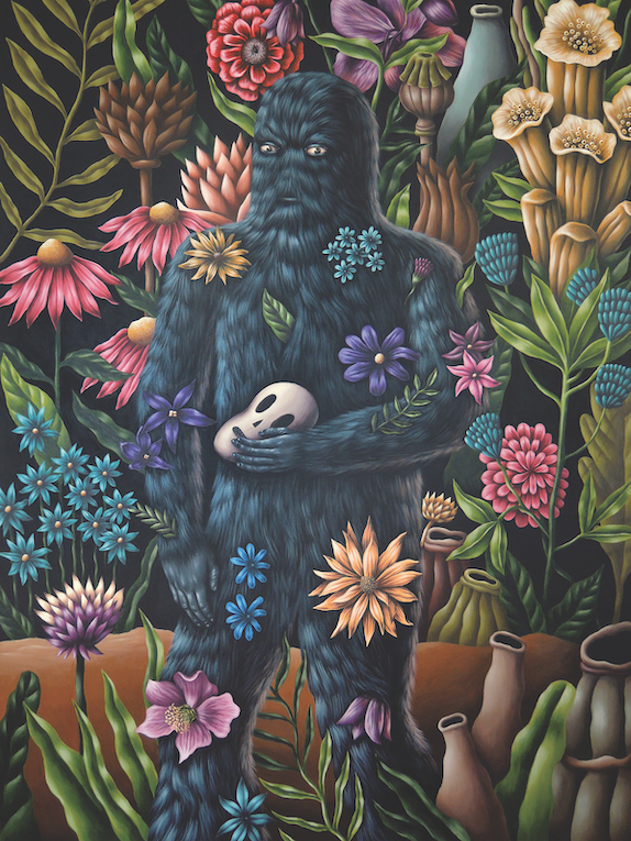 Saddo – Orcus (Stranger in the Garden) acrylic on canvas 170 x 120 cm