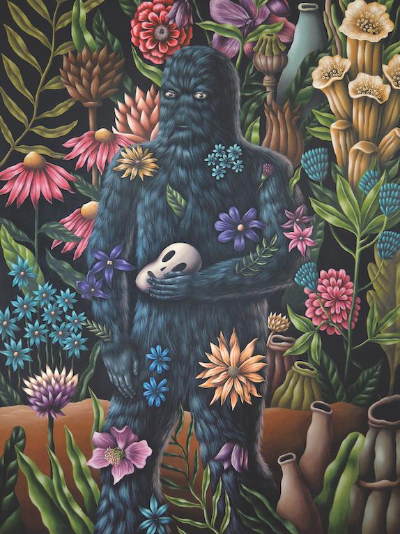 Saddo – Orcus (Stranger in the Garden) acrylic on canvas 170 x 120 cm