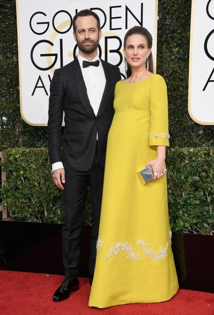 Benjamin Millepied si Natalie Portman la Golden Globes