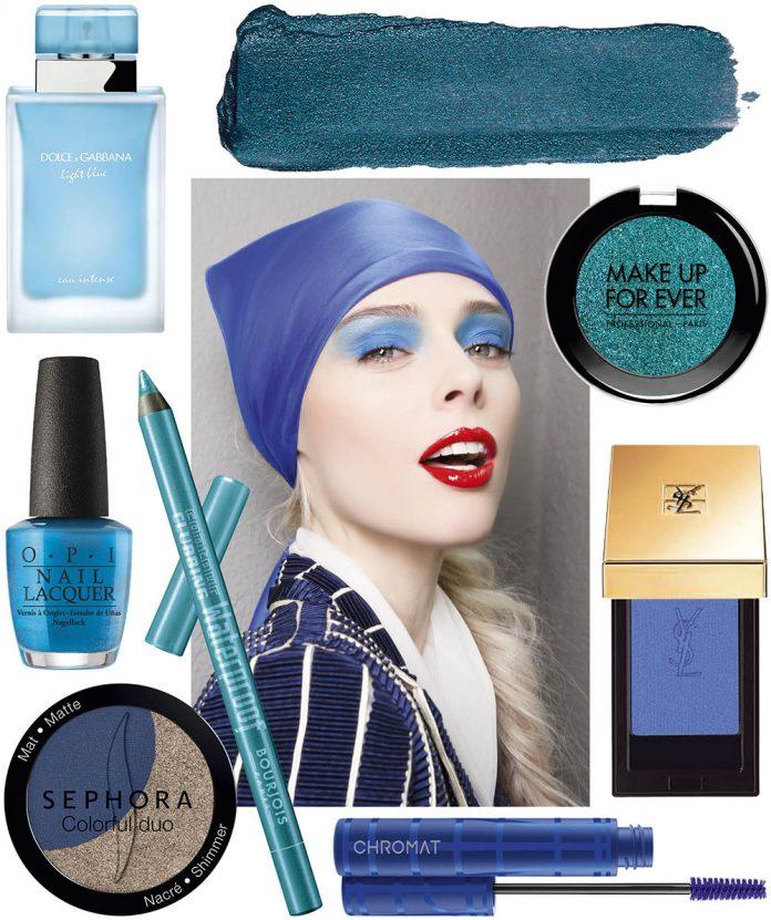 beauty blue colaj