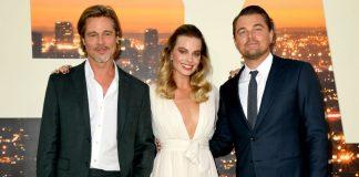 Margot Robbie, Brad Pitt și Leonardo DiCaprio la premiera Once Upon A Time In Hollywood
