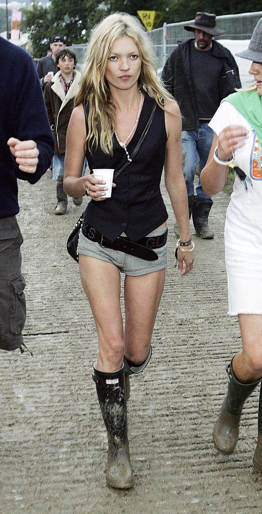Outfituri de festival Kate Moss, Glastonbury 2005