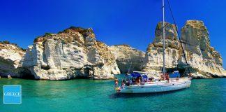 Evadare în Grecia: yachting, windsurfing și waterskiing în Insulele Cyclade