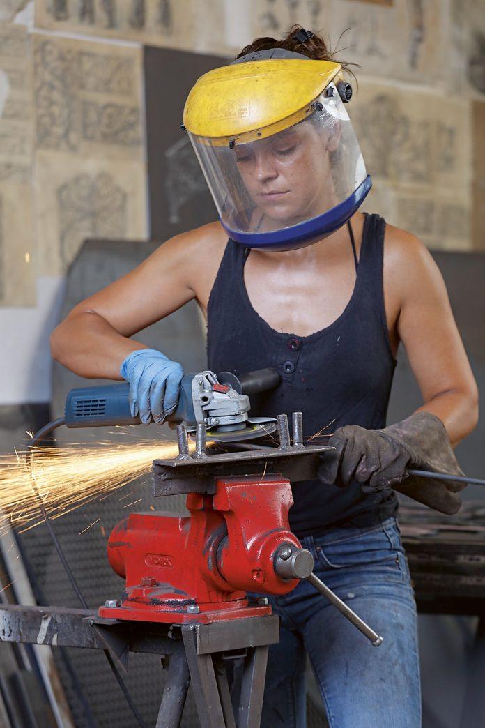 Misha Diaconu în atelier